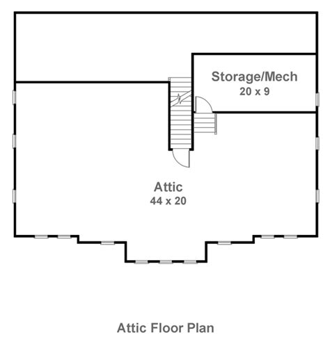 house with attic floor plan attic house plans find house plans