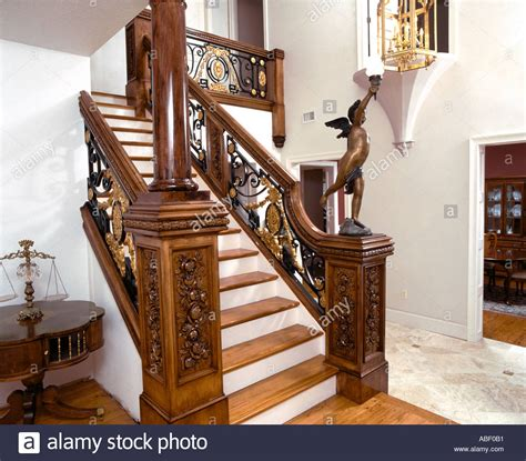 Home Theater Is A Titanic Replica by Titanic Replica Staircase In Home Stock Photo 782513 Alamy