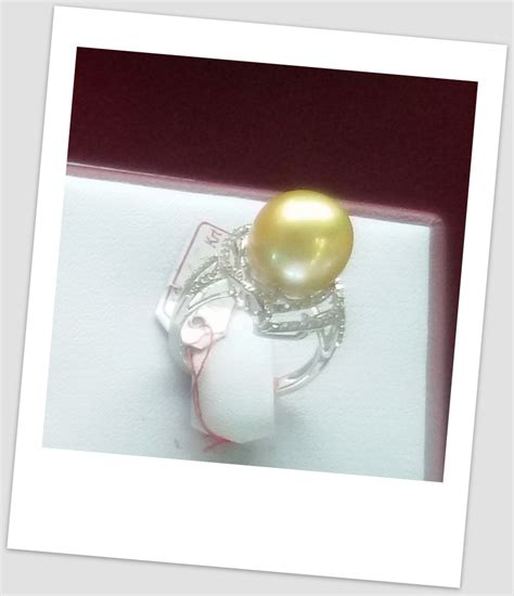 Cincin Mutiara Lombok Perhiasan Accessories 3 handmade gold ring with south sea pearl ctr 116 harga mutiara lombok perhiasan toko emas