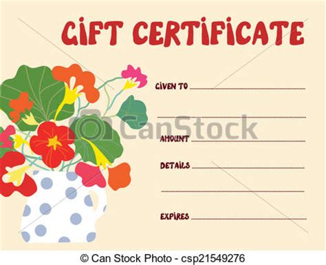 Graphic Design Gift Card Template by Vectors Illustration Of Gift Certificate Template
