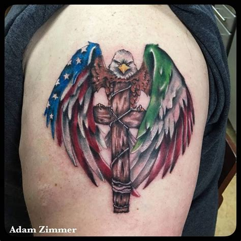 cross with eagle wings tattoo 53 coolest must designs for patriotic 4th july