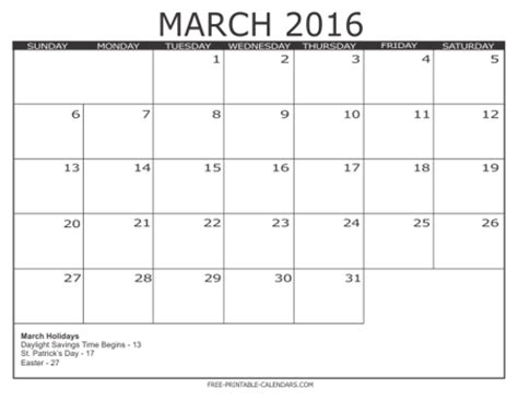 printable monthly calendar january 2016 free printable calendars 2016 print blank calendars