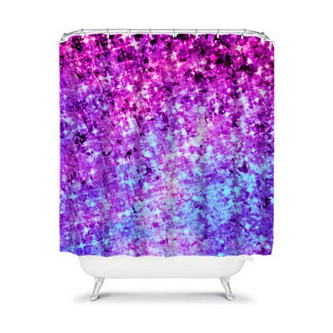 purple ombre shower curtain items similar to radiant orchid galaxy fine art painting