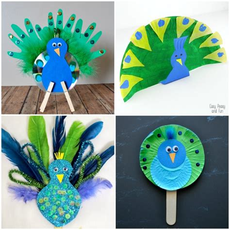 Peacock Paper Plate Craft - i crafty things 10 pretty peacock crafts for