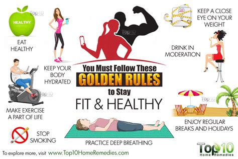 fit figures manual to keep fit and healthy you must follow these 10 golden rules to stay fit and