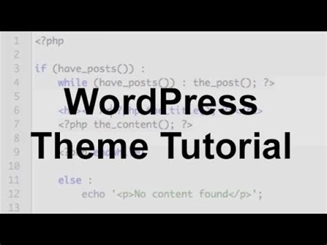 wordpress tutorial youtube tyler wordpress theme tutorial part 1 youtube