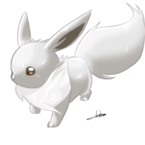 Kanna White Soft shiny evee by dormin kanna on deviantart