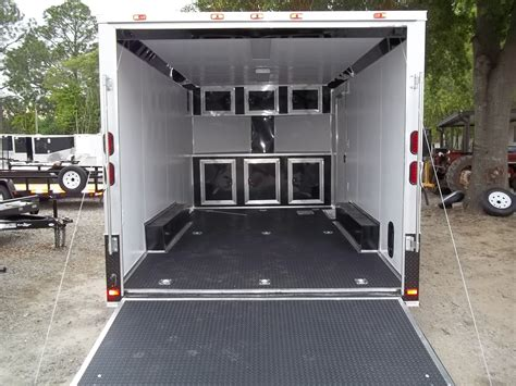 race car trailer cabinets enclosed car hauler race ready with finished interior and