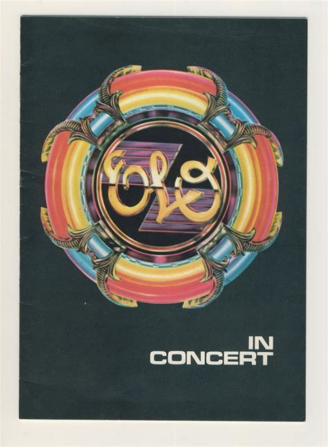 electric light orchestra tour electric light orchestra tour programme 1978