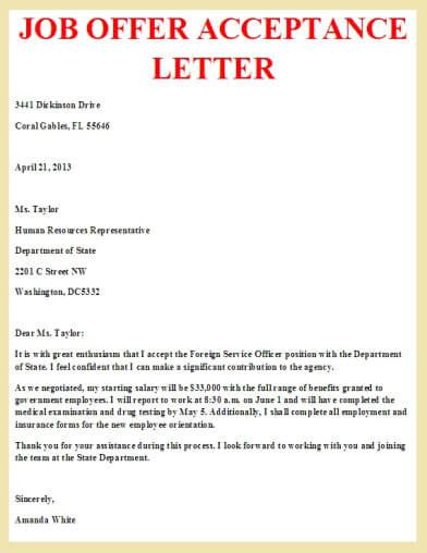 Acceptance Letter Heading Thank You Letters For Offer Letter Format Offer Offer Letter Sle For Employers