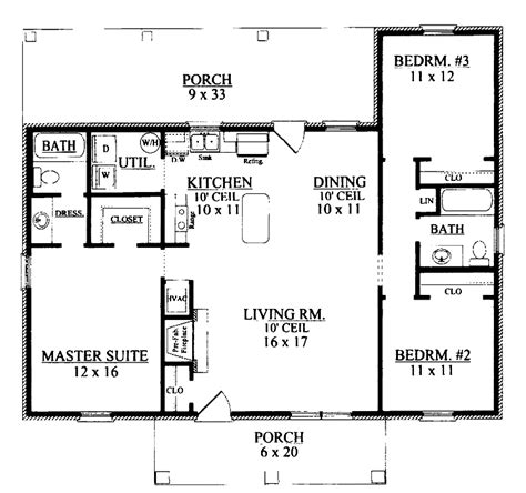 Ranch Floor Plans With 3 Bedrooms by House Plans Ranch 3 Bedroom Photos And