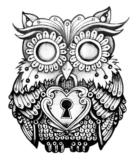 vintage owl tattoo designs vintage owl drawings pictures to pin on