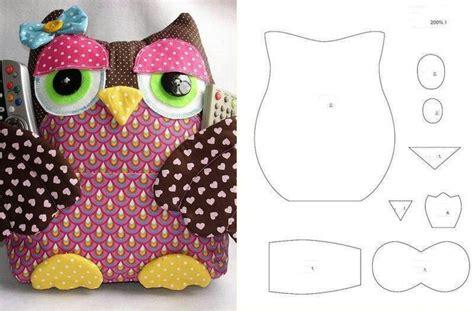 Patchwork Owl Pattern - buho guarda mandos cojines patchwork