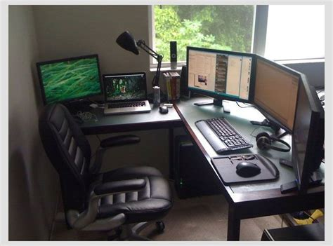 gaming office setup sunny day at the home office best office set up for me yet stuff i wouldn t mind having