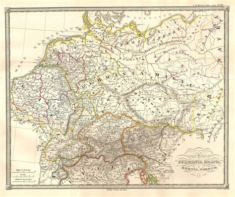 maps germania file 1855 spruneri map of germany or germania magna in