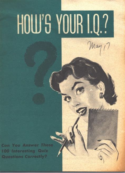 whereã s your hair books how s your i q booklet 1950s everybody an artifact