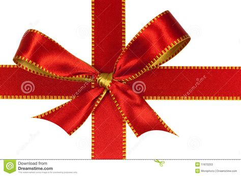 christmas red ribbon isolated on white stock photos