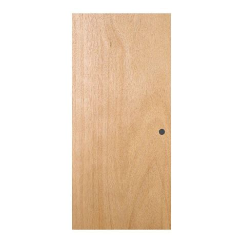 Pre Bored Interior Doors Jeld Wen 32 In X 78 In Woodgrain Flush Unfinished Hardwood Pre Bored Interior Door Slab