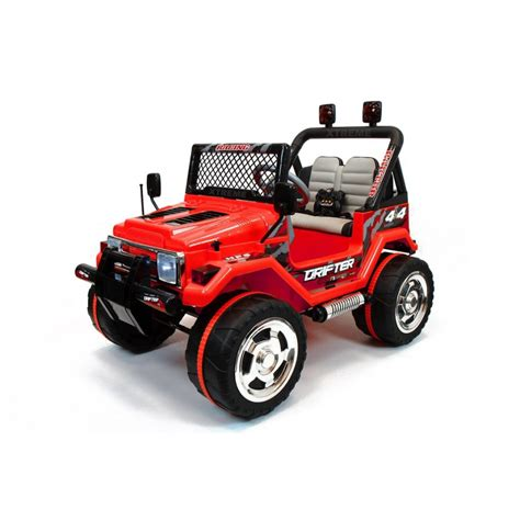 jeep toy car xtreme 12v ride on off road jeep in red xtreme toys