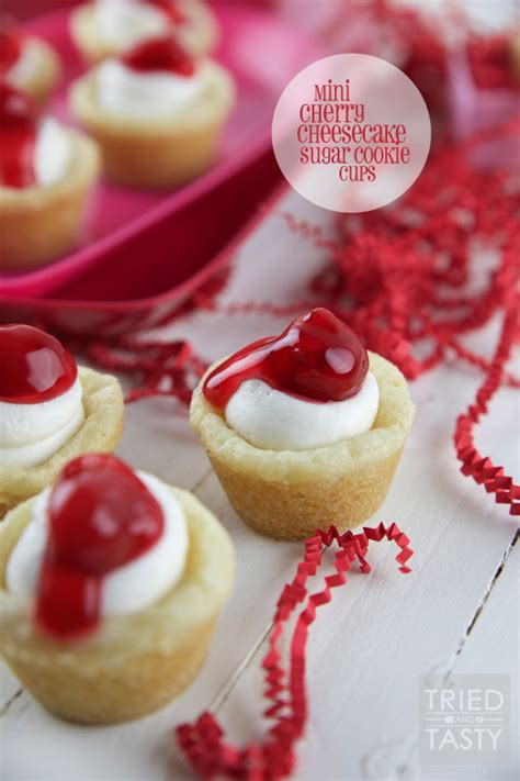 Mini Cherry mini cherry cheesecake sugar cookie cups tried and tasty
