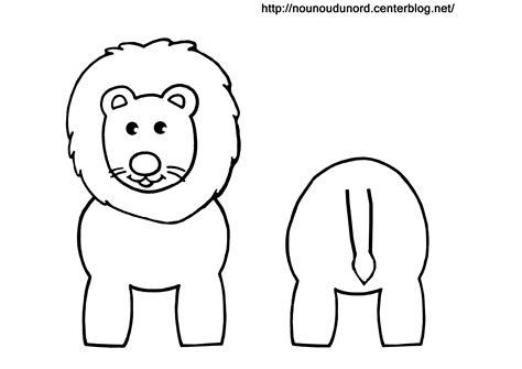 dessin sur papier toilette coloriage lion pour rouleau de papier wc