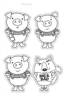 the three pigs puppet templates printable three pigs house templates preschool