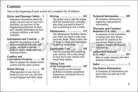 car repair manuals download 1997 acura cl user handbook 1997 acura 2 2 cl owners manual original
