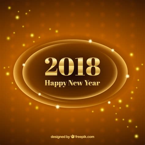 new year 2018 gold coast gold and brown new year 2018 background vector free