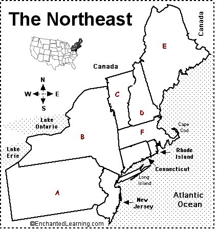 map of northeastern united states without names northeast states and capitals matching gamesworld