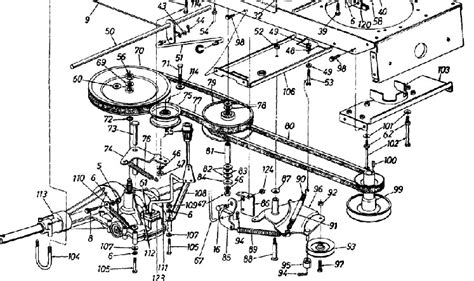 mtd yard machine parts diagram mtd 146k828h000 46 quot garden tractor mower