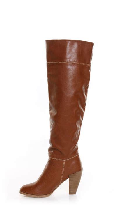 gomax prima donna 01 cognac knee high heel boots 76 00