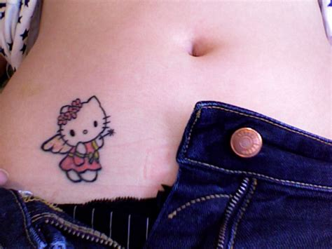 small hello kitty tattoos design small hip tattoos