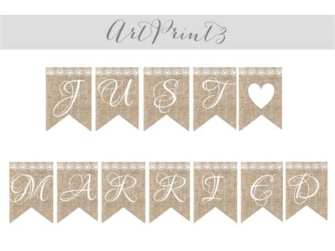 printable rustic banner burlap wedding banner printable rustic wedding printable