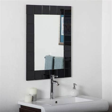 ada bathroom mirror ada compliant black contemporary mirrors bellacor