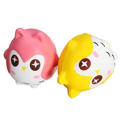 Squishy Yellow Owl squishy owl 10cm soft sweet bird animals rising