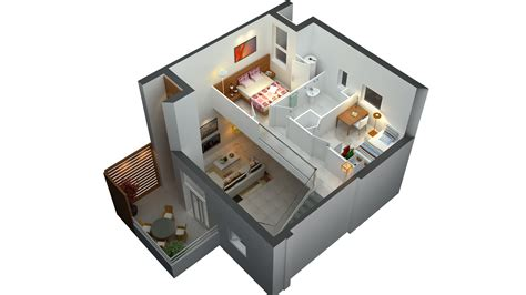 Home Decor For Small Homes D Floor Plan Home Ideas Small House 2 Bedroom Plans 3d Of Interalle