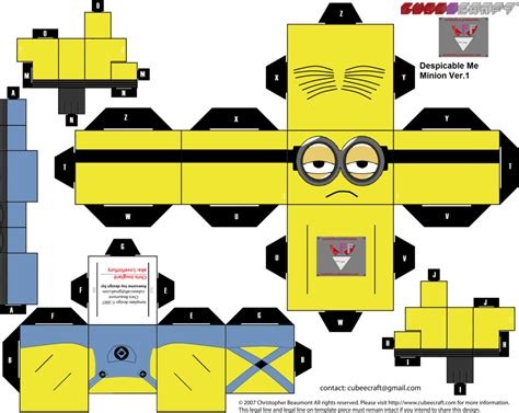Despicable Me Papercraft - minion papercraft despicable me