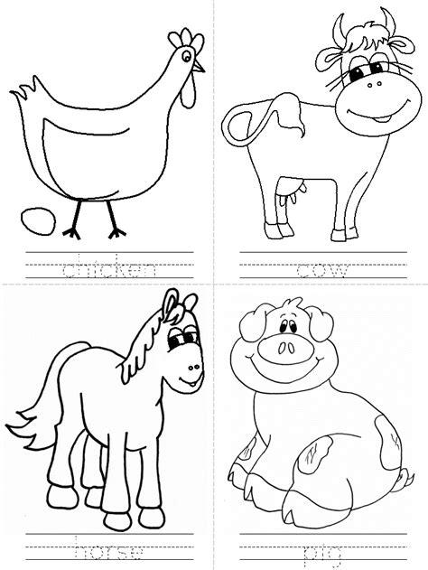 printable animal activity book on the farm activity worksheet