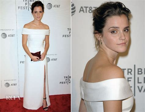 emma watson tribeca film festival outfit emma watson in burberry the circle tribeca film