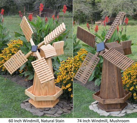 outdoor decorations amish made wooden dutch windmill yard decoration