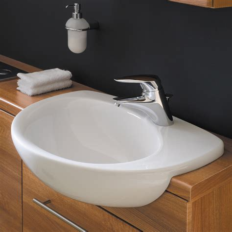 qssupplies co uk bathroom furniture ideal standard create edge 560mm semi countertop basin