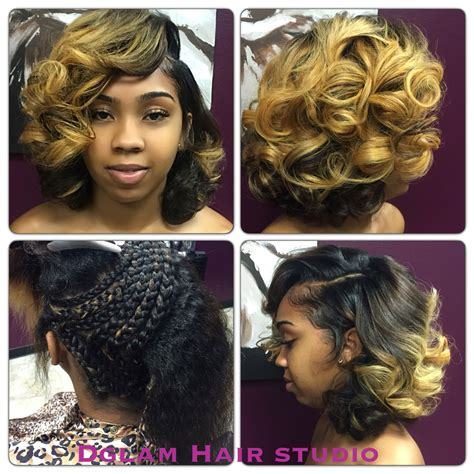 bob quickweave with front closure bob length hair shoulder length blonde bob quick weave
