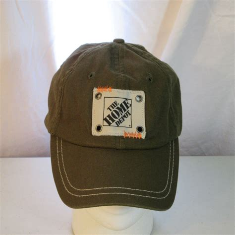 home depot stitched patch baseball hat cap green store