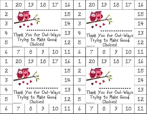 punch card template for students 8 best images of choices printable cards