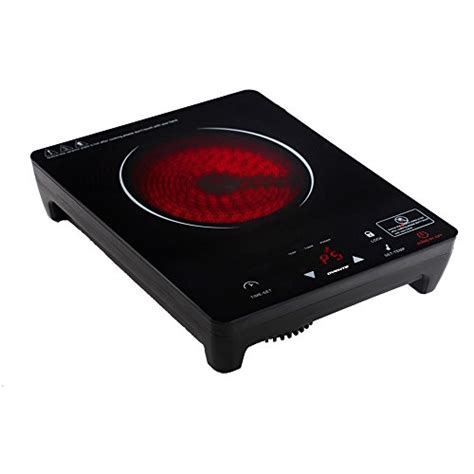 portable ceramic induction cooktop free shipping ovente cool touch portable ceramic induction cooktop burner black bg62b