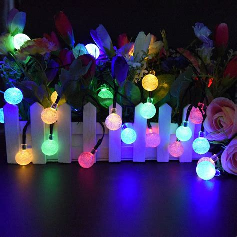 Marvelous Christmas Lights Big Bulbs #2: Kmashi-Solar-Powered-Globe-String-Lights-Outdoor-19-7-ft-30-LED-Multicolor-Crystal-Ball-Christmas.jpg