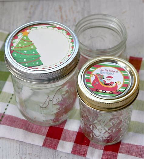 free printable mason jar labels for christmas gifts