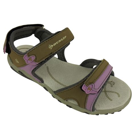 leather walking sandals womens dunlop walking sports velcro sandals womens