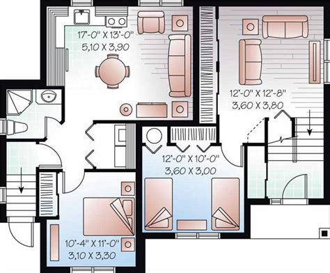 House Plans With Basement Apartment by House Plans With Apartment In Basement House Design Plans
