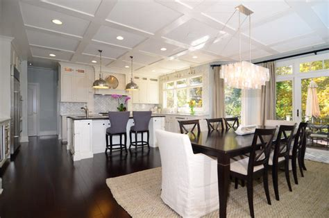 open concept kitchen dining room floor plans open plan soft white cabinets contrasting dark floors